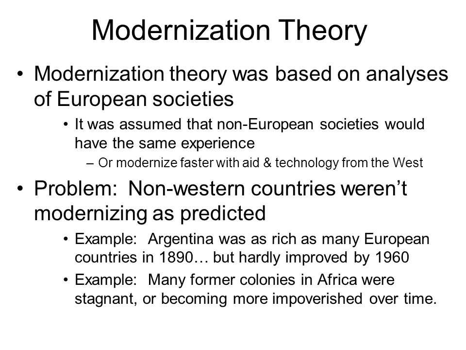 modernization in sociology