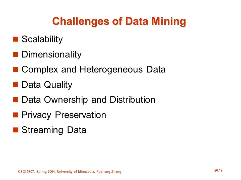 Challenges of Data Mining