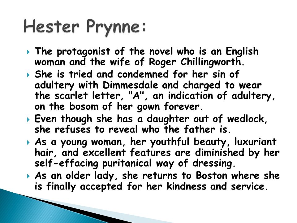 hester prynne adultery