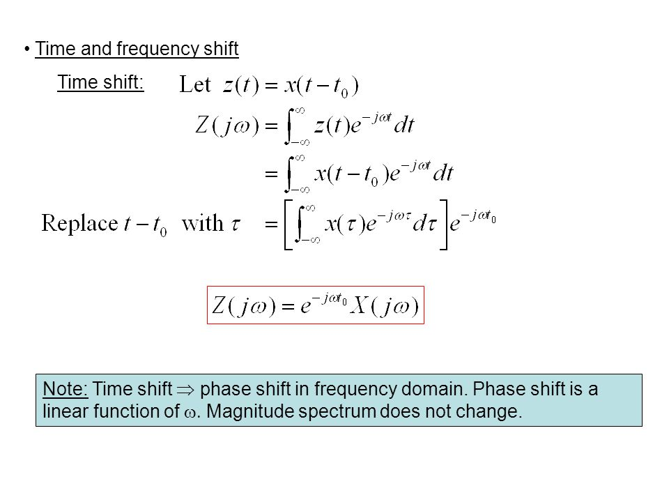 Time and frequency shift