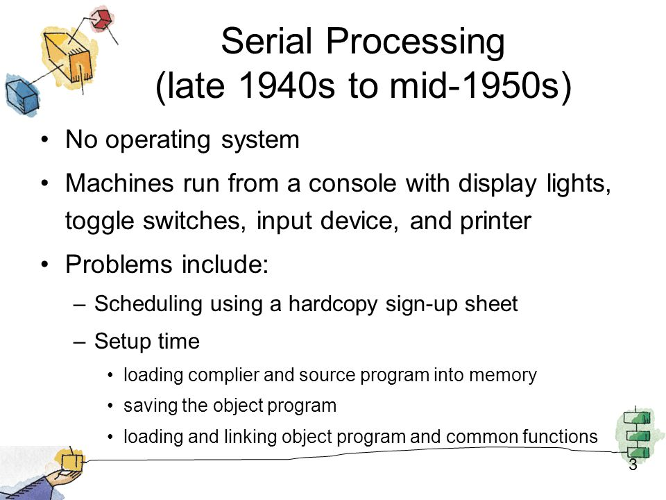 Serial Processing (late 1940s to mid-1950s)