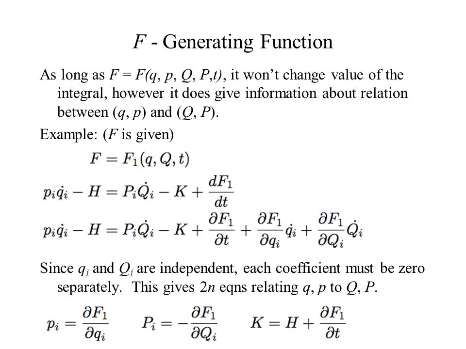 Solved: examples of canonical transformations. Show that.