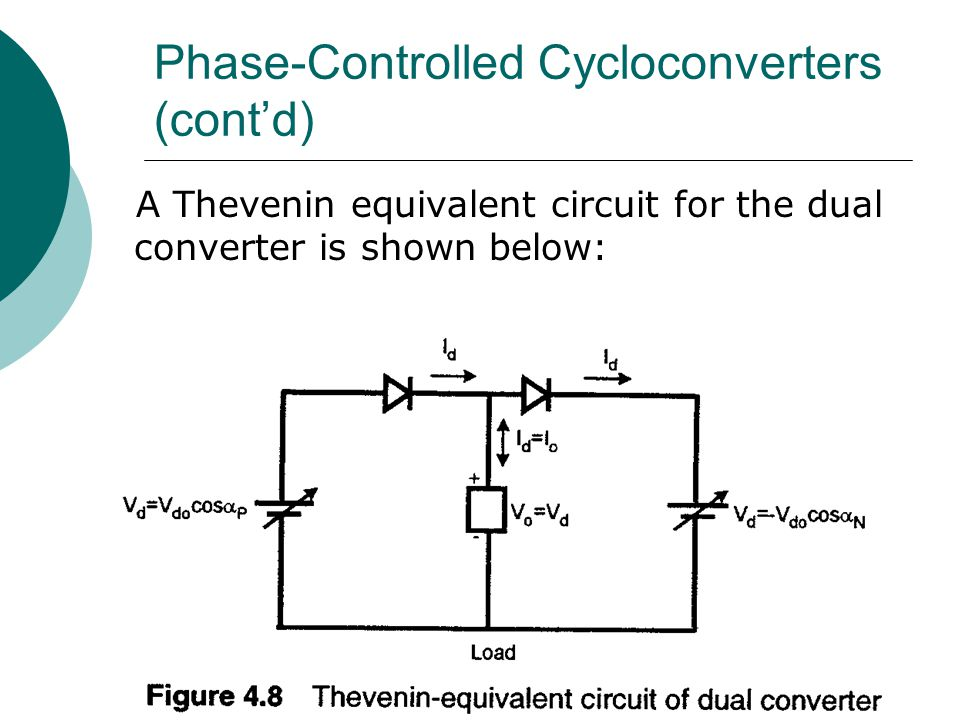 Phase-Controlled Cycloconverters (cont'd)