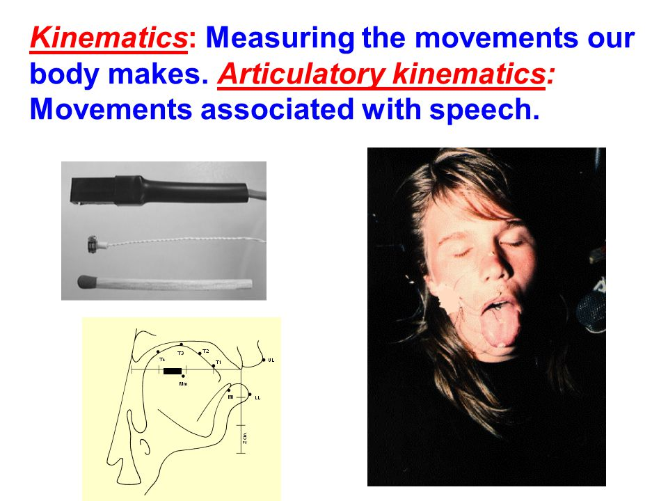 Kinematics: Measuring the movements our body makes