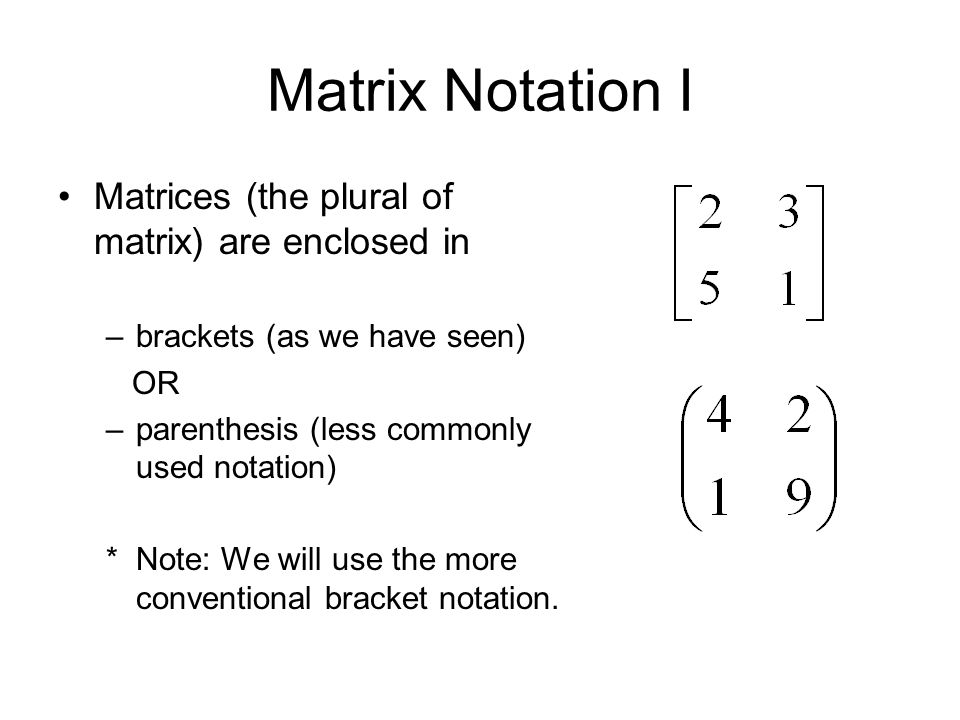 Review Of Matrix Algebra Ppt Video Online Download