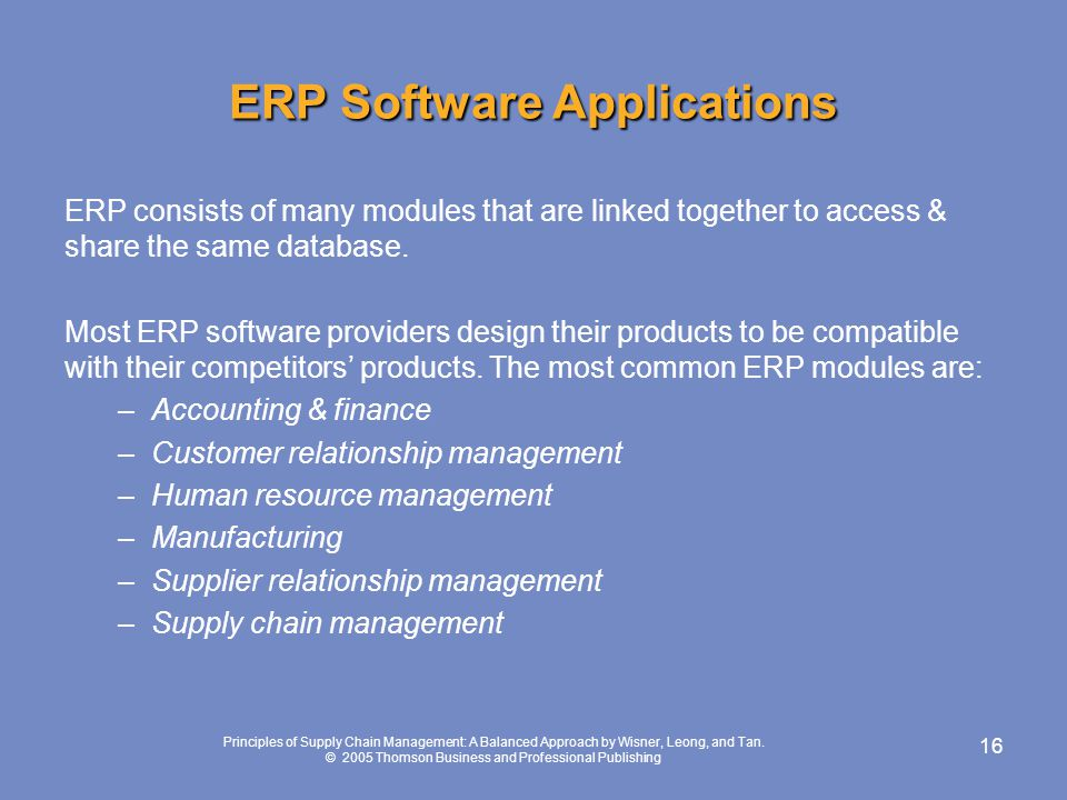 ERP Software Applications