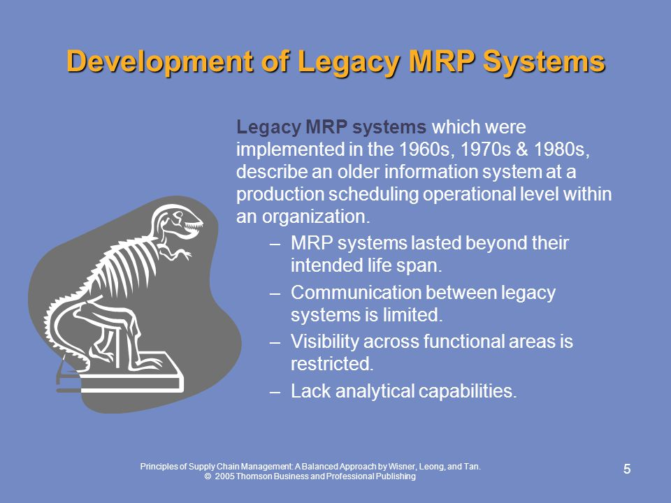 Development of Legacy MRP Systems