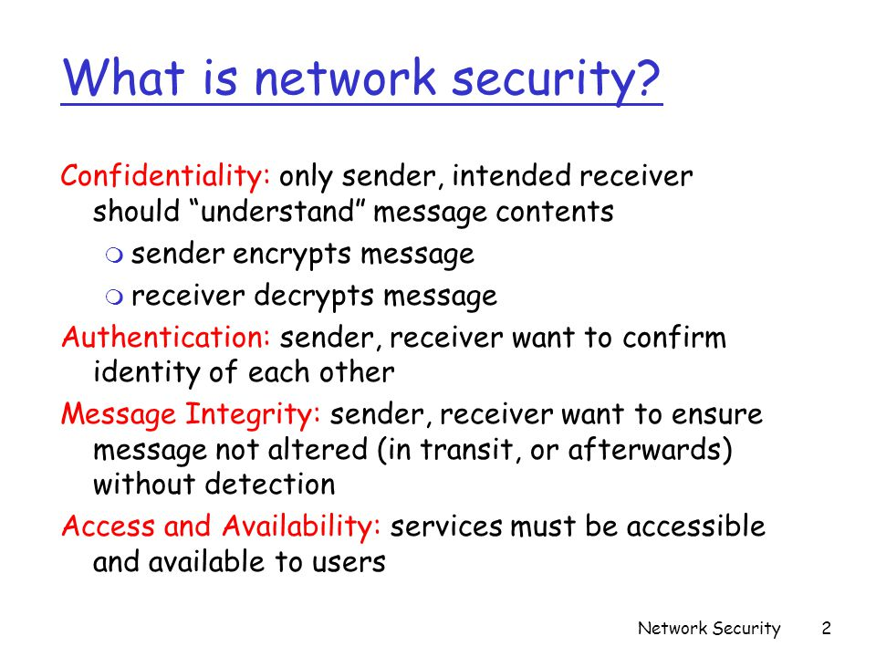 What is network security