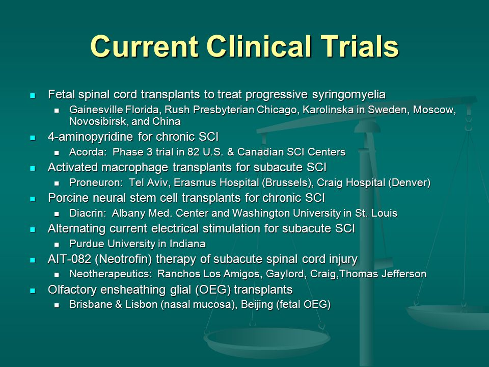 Spinal Cord Injury Therapies - ppt download