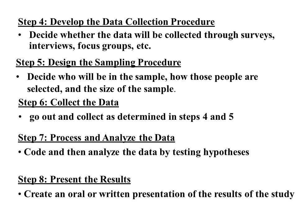 definition of data gathering procedure