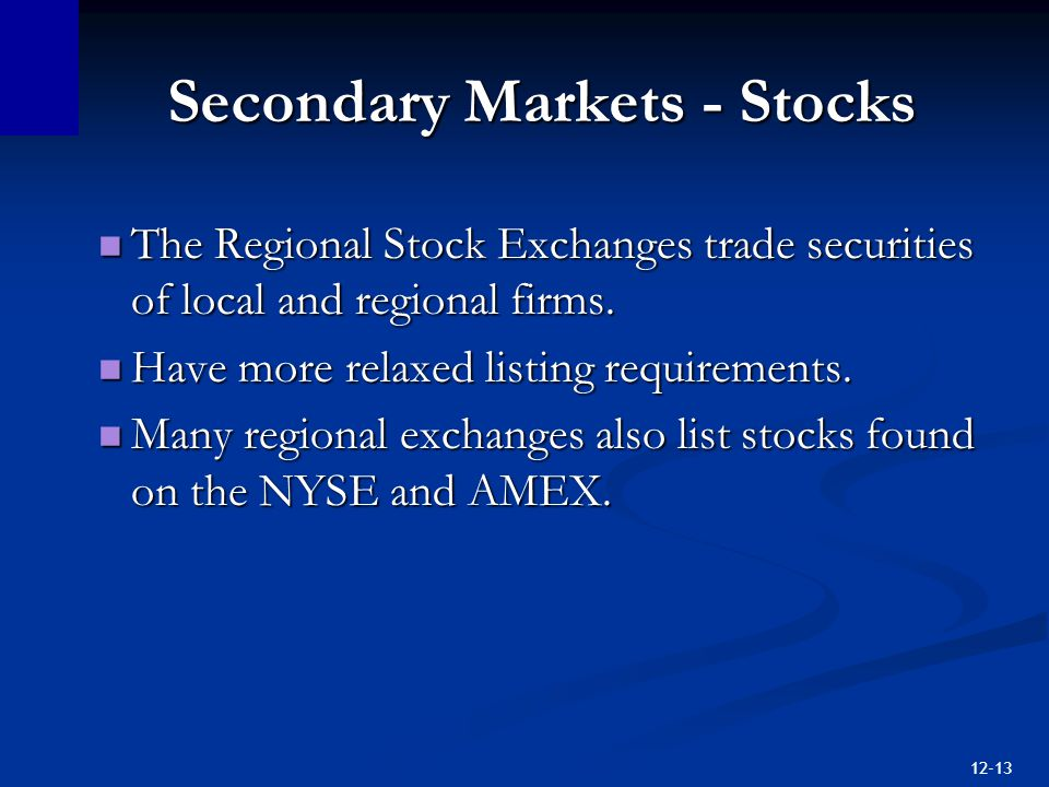 Chapter 12 Securities Markets  - ppt download