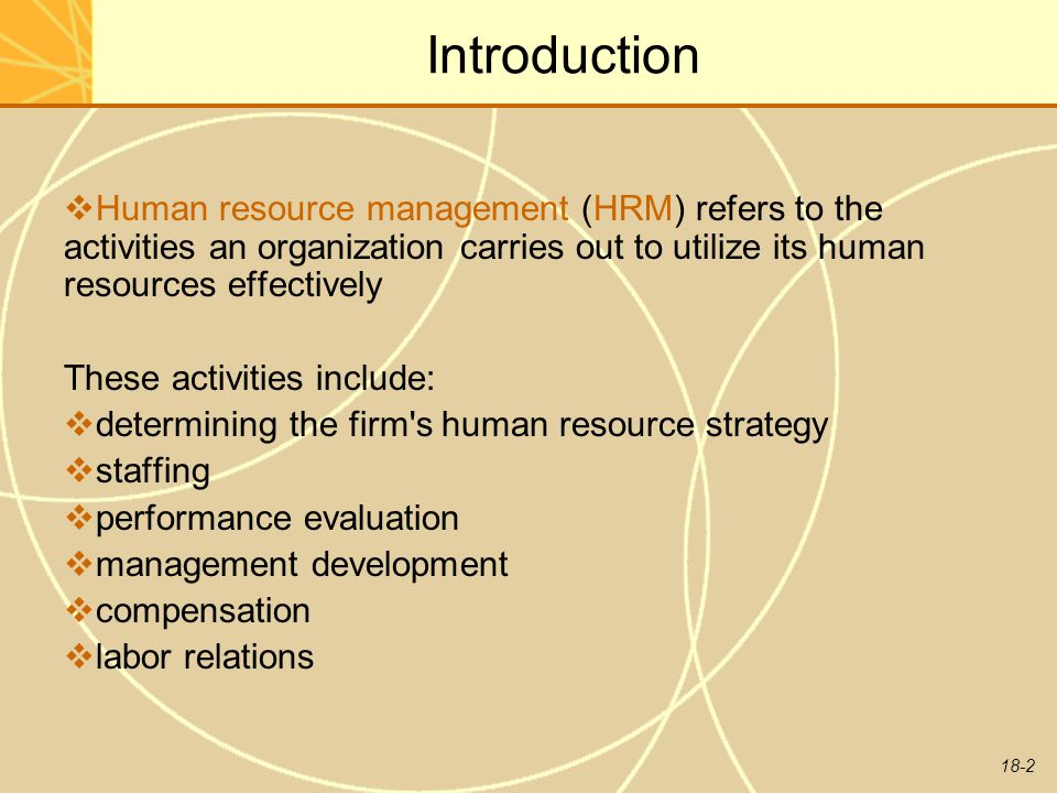 human resource management essay introduction Introduction to human resource management introduction the objective of each and every company is to succeed in business and be always at a better.