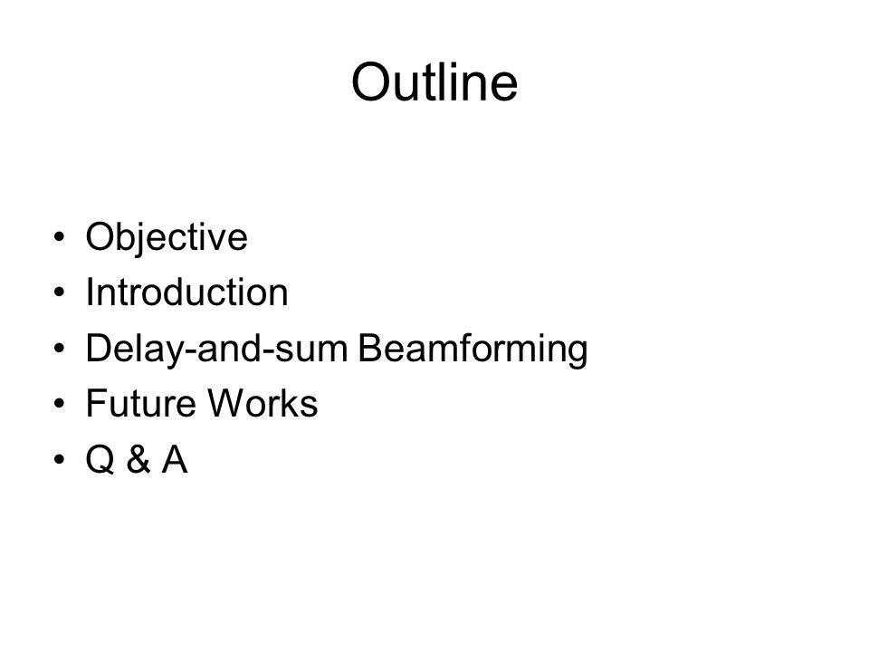 An Overview of Delay-and-sum Beamforming - ppt download