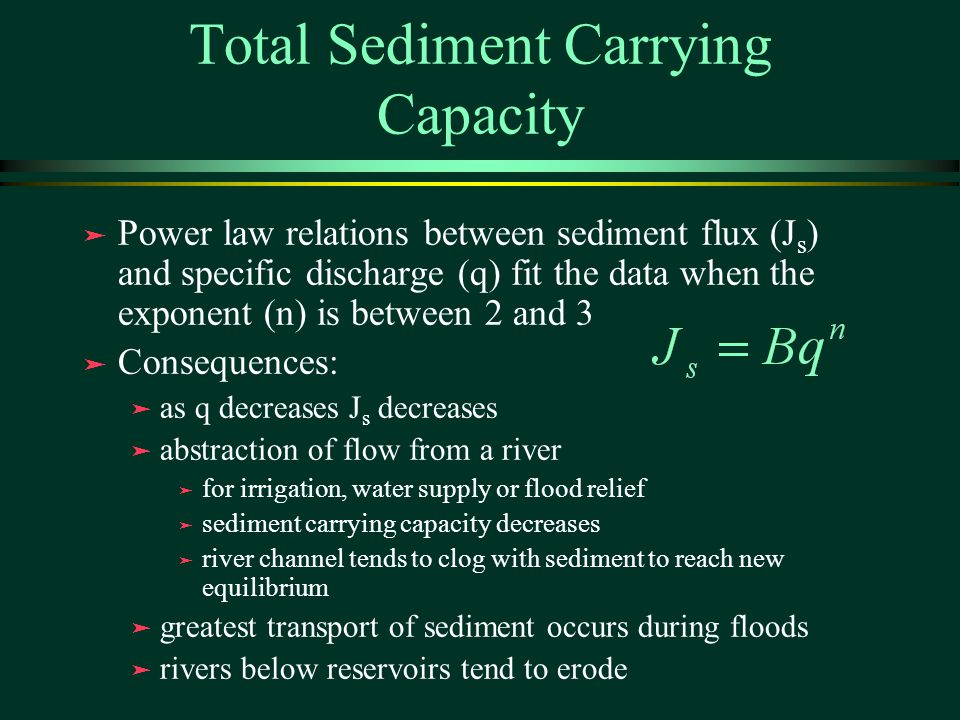 Total Sediment Carrying Capacity