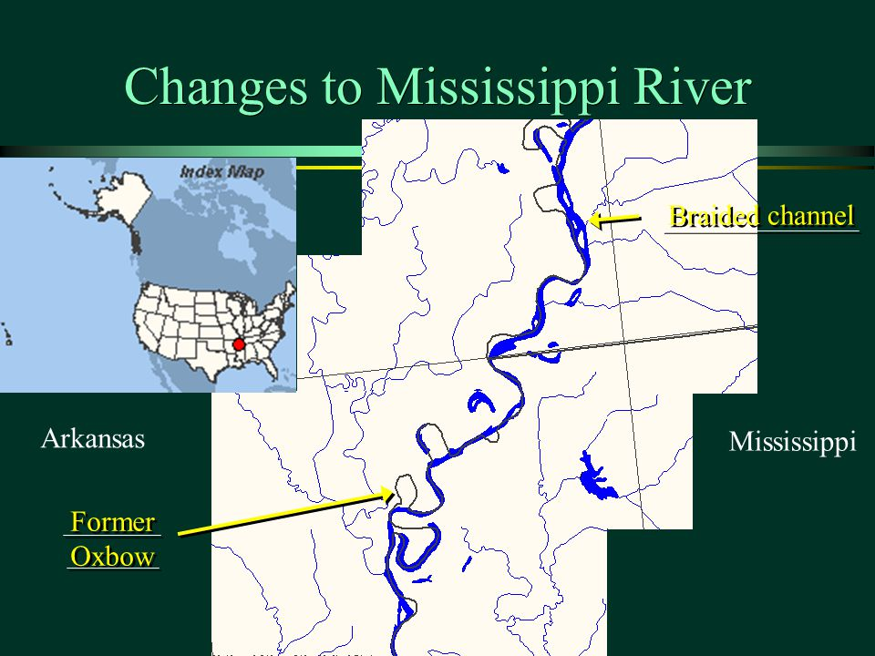 Changes to Mississippi River