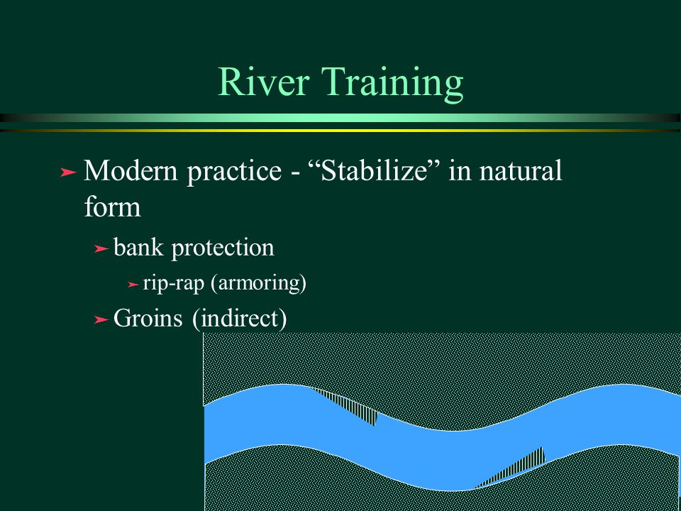 River Training Modern practice - Stabilize in natural form