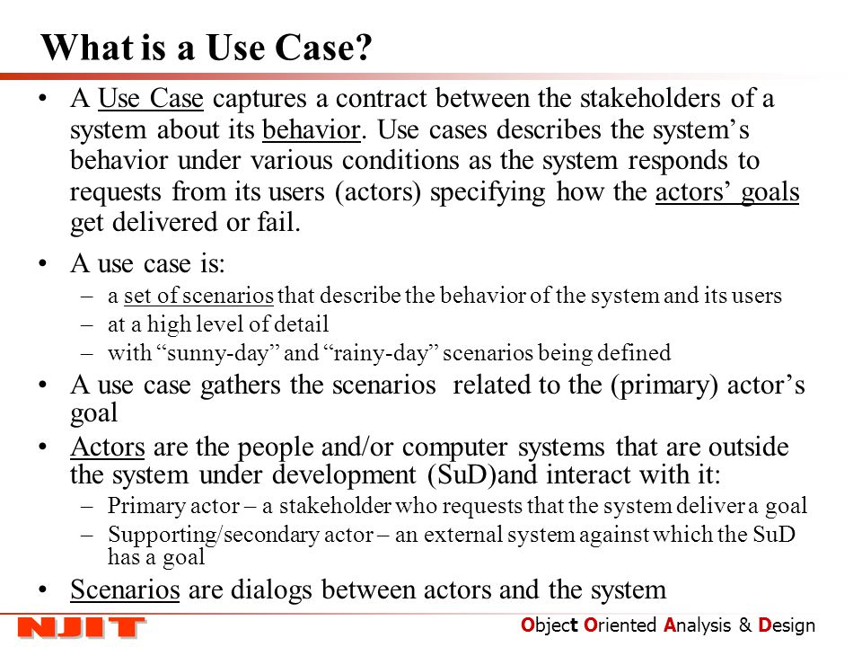 Use Cases.