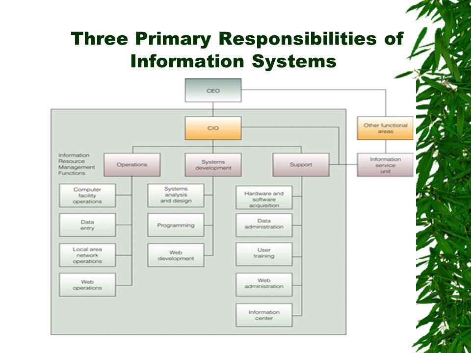 Three Primary Responsibilities of Information Systems