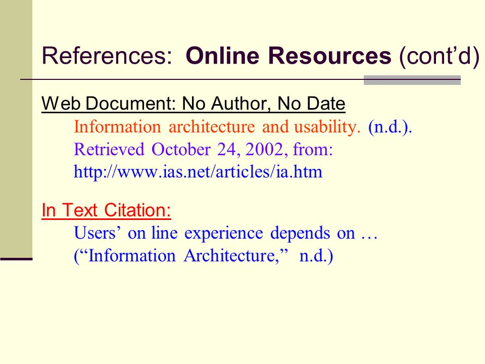Documentation In Text Citations Parenthetical References Citing