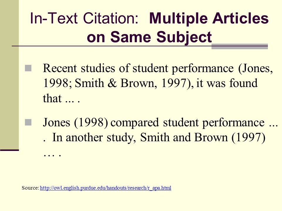 Documentation in text citations parenthetical references citing in text citation multiple articles on same subject ccuart Image collections