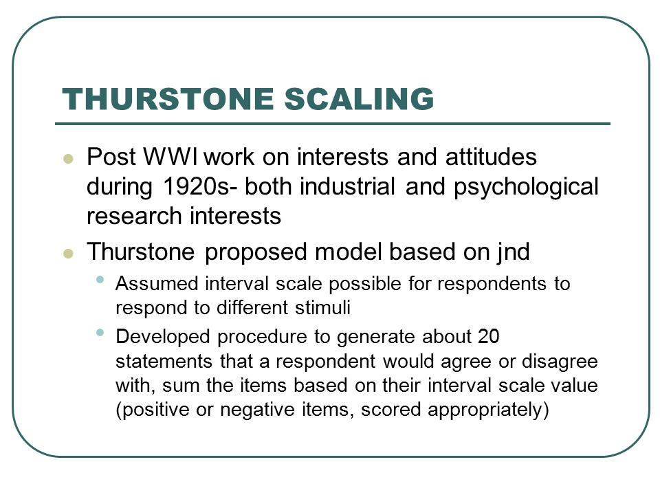 thurstone and likert scale