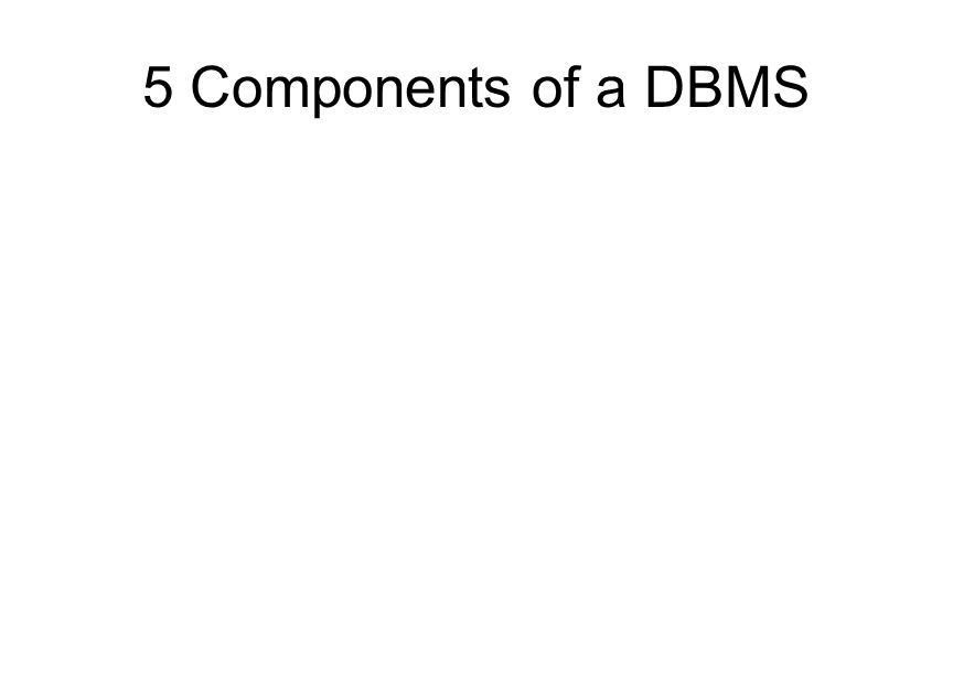 5 Components of a DBMS