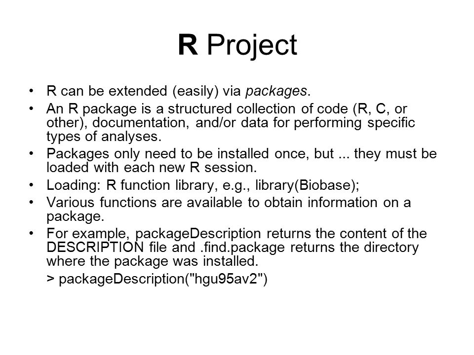 Introduction to R and Bioconductor BMI 731 Winter ppt video