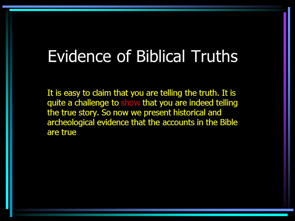 Evidence of Biblical Truths