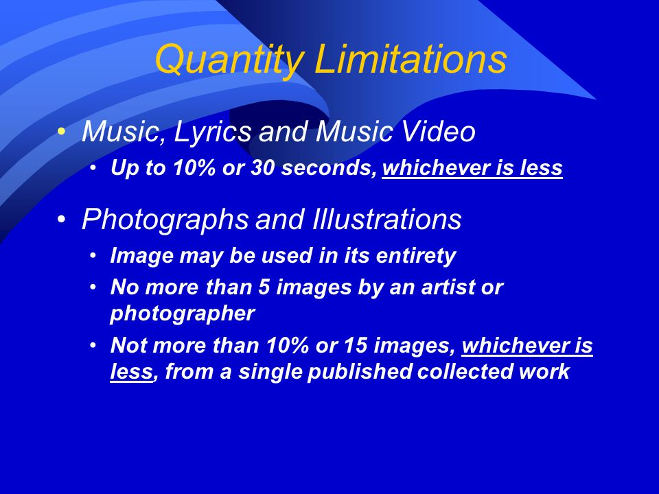 Quantity Limitations Music, Lyrics and Music Video
