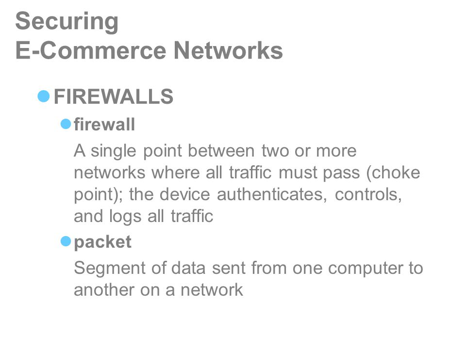 role of firewall in e commerce