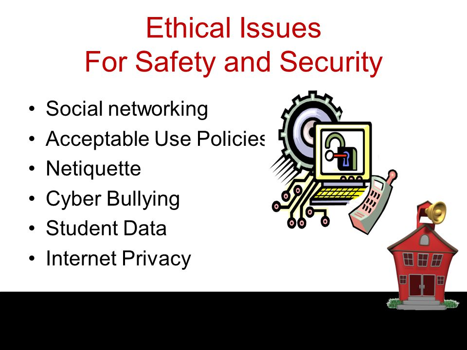 Ethical Issues For Safety and Security