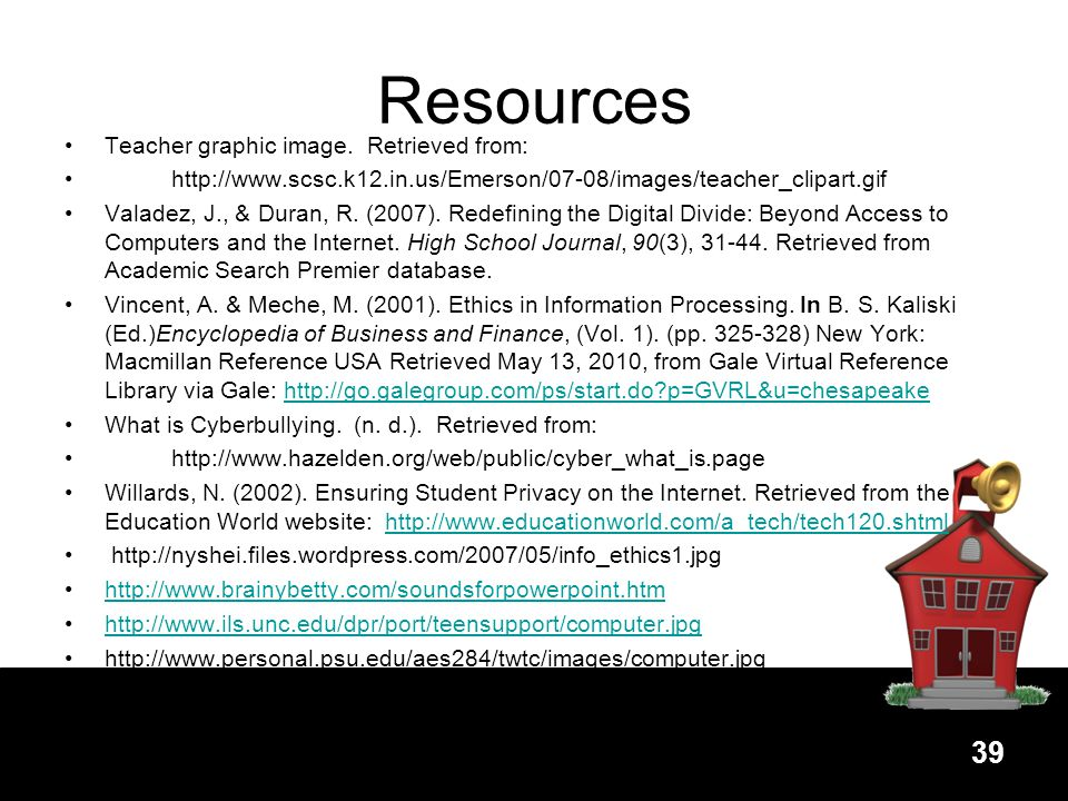 Resources Teacher graphic image. Retrieved from: