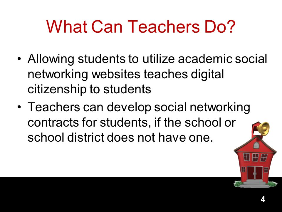 What Can Teachers Do Allowing students to utilize academic social networking websites teaches digital citizenship to students.