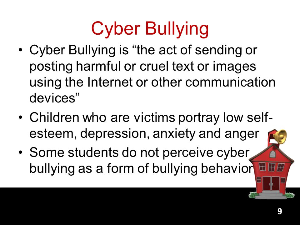 Cyber Bullying Cyber Bullying is the act of sending or posting harmful or cruel text or images using the Internet or other communication devices