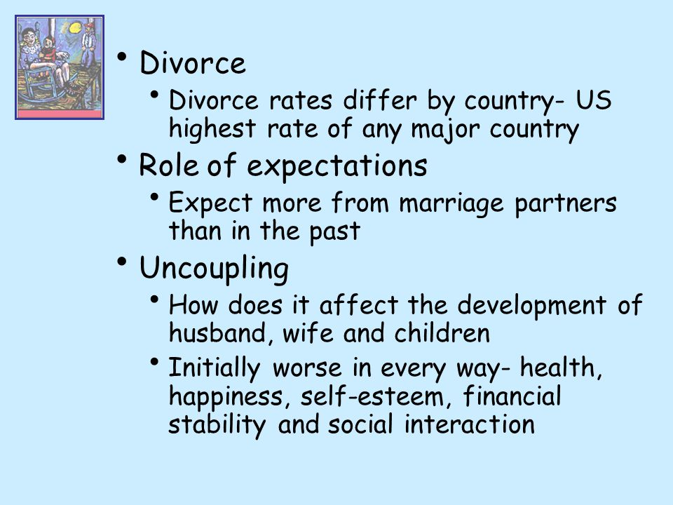 Divorce Role of expectations Uncoupling