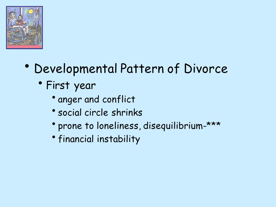 Developmental Pattern of Divorce