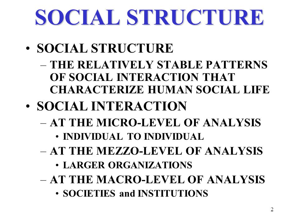concept of social structure in sociology