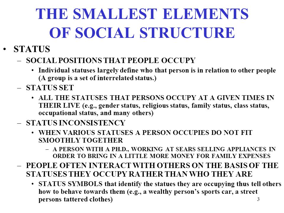 Sociology 374 Introduction To Social Structure And Change Ppt
