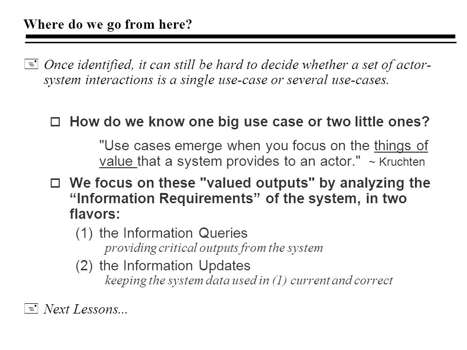 How do we know one big use case or two little ones