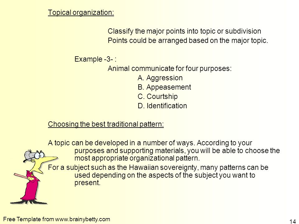 Organizing Your Speech Ppt Video Online Download Adorable Spatial Organizational Pattern