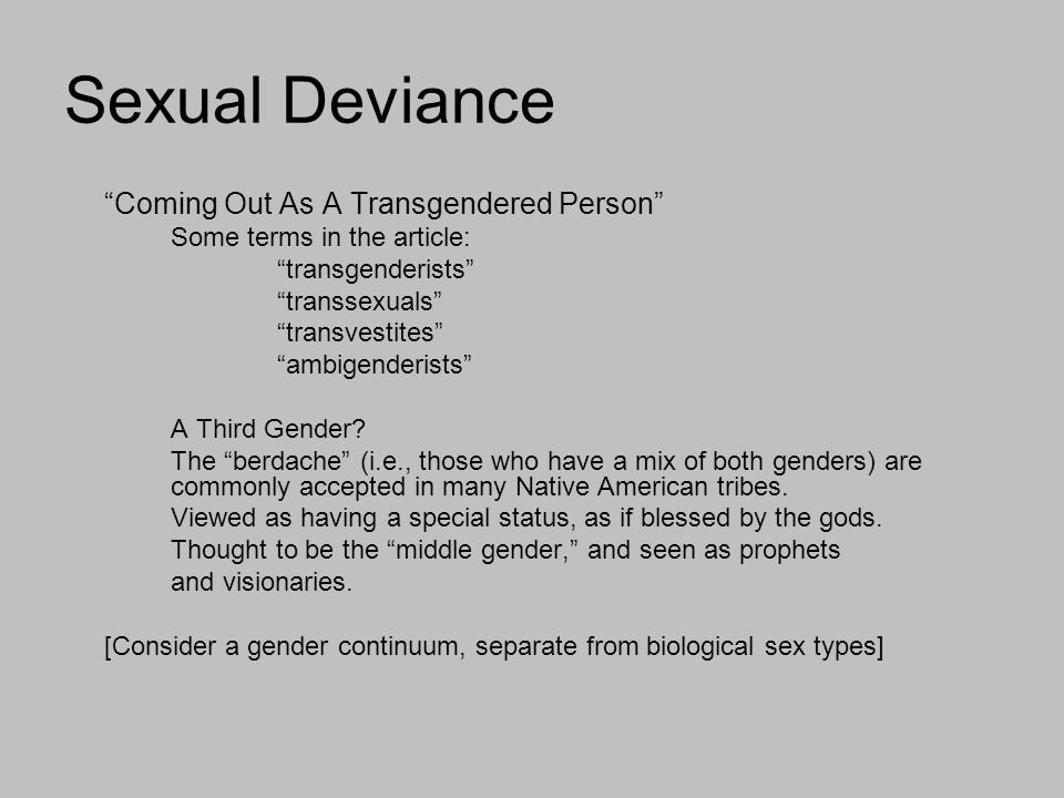 Types of sexual deviance