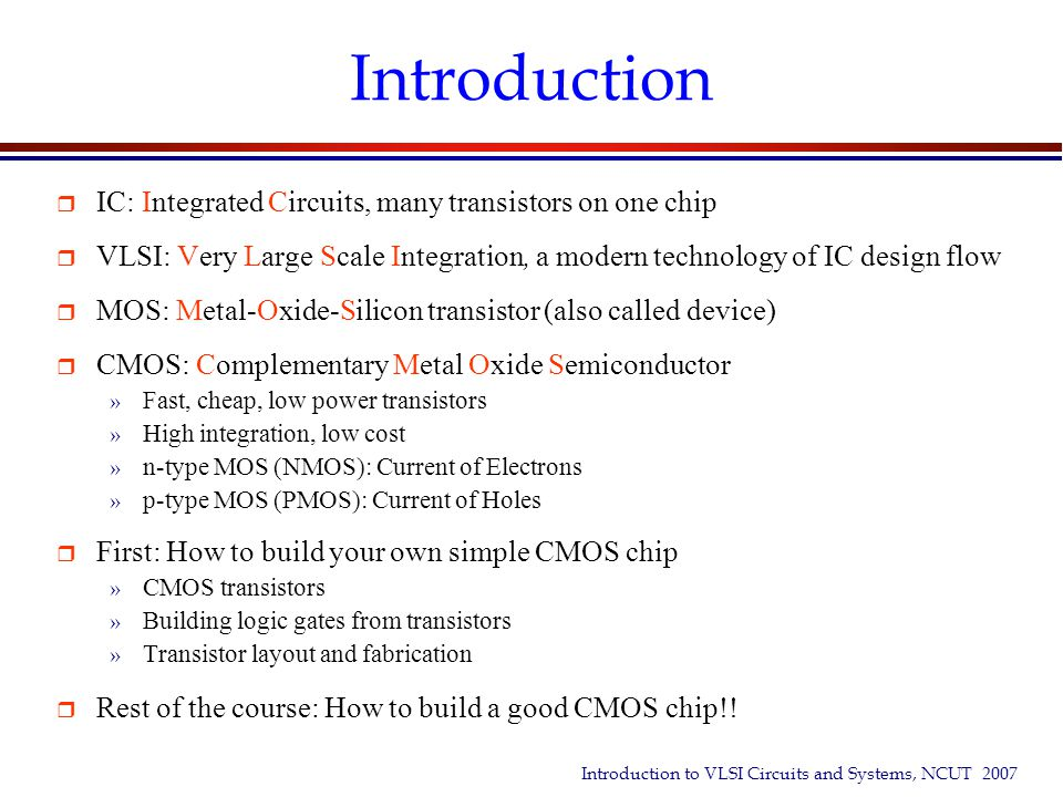 Chapter 01 An Overview Of Vlsi Ppt Video Online Download
