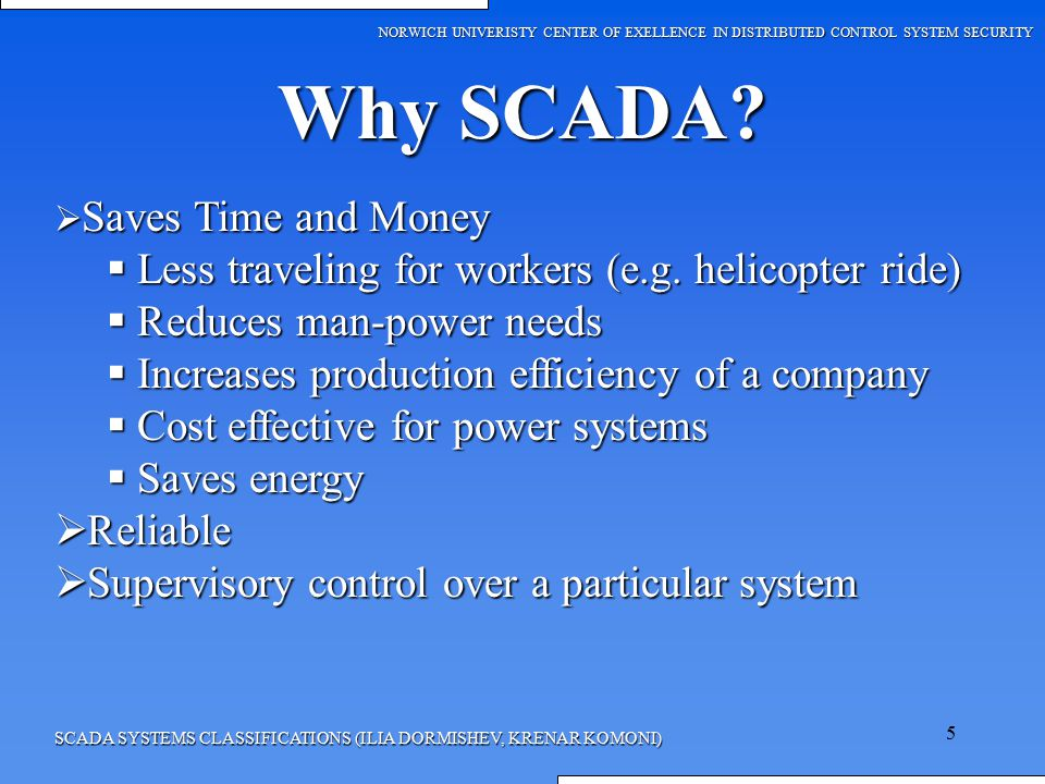 SCADA SYSTEM CLASSIFICATION - ppt video online download