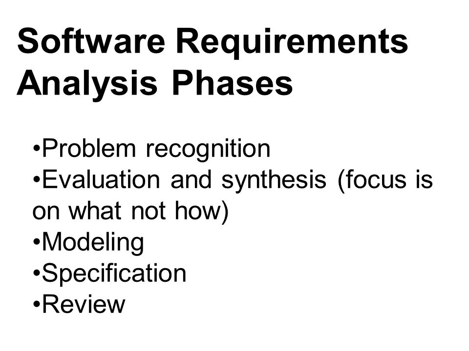 Software Requirements Analysis Phases
