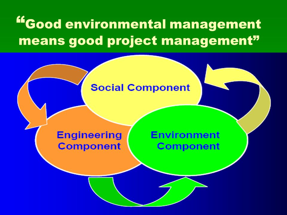 Good environmental management means good project management