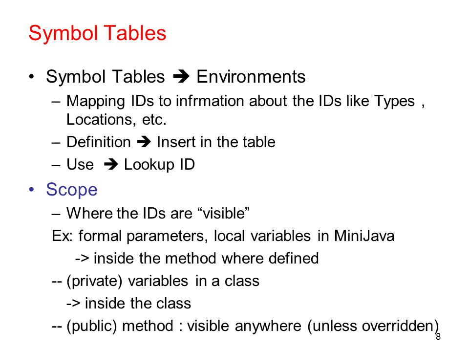 Semantic Analysis Symbol Table And Type Checking Ppt Download
