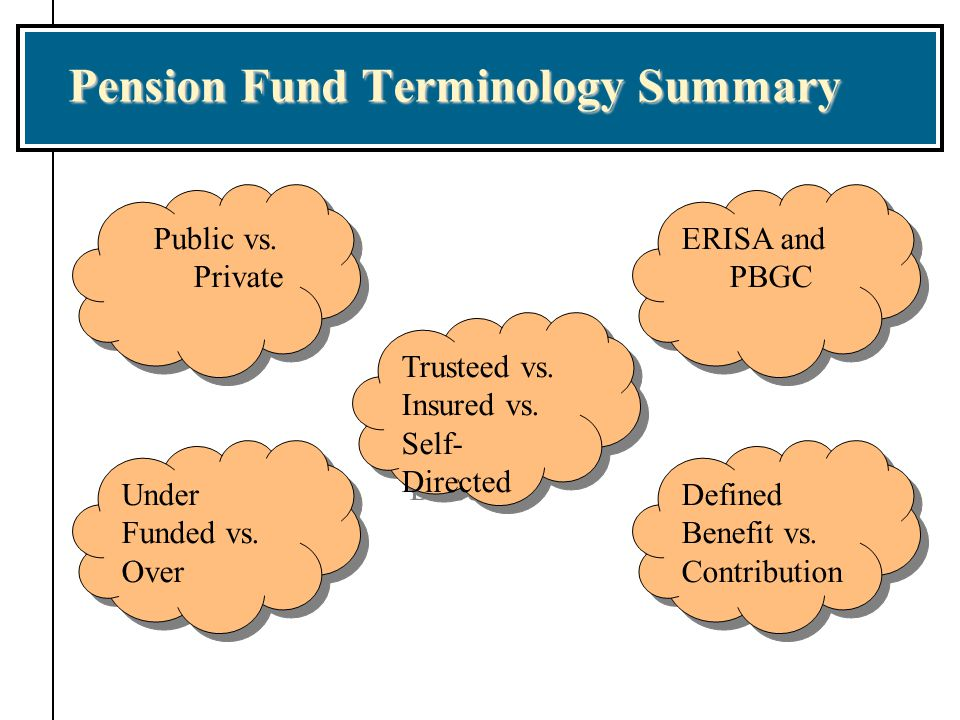 Pension Fund Terminology Summary