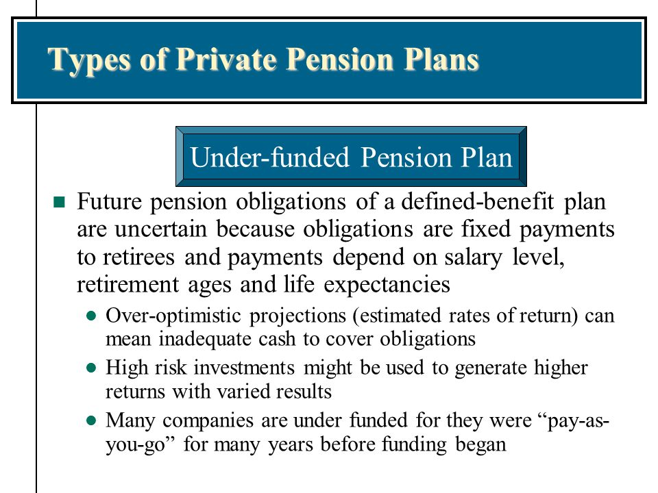 Types of Private Pension Plans