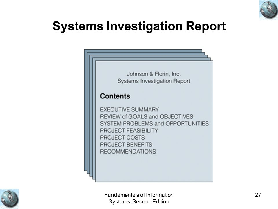 Systems Investigation Report