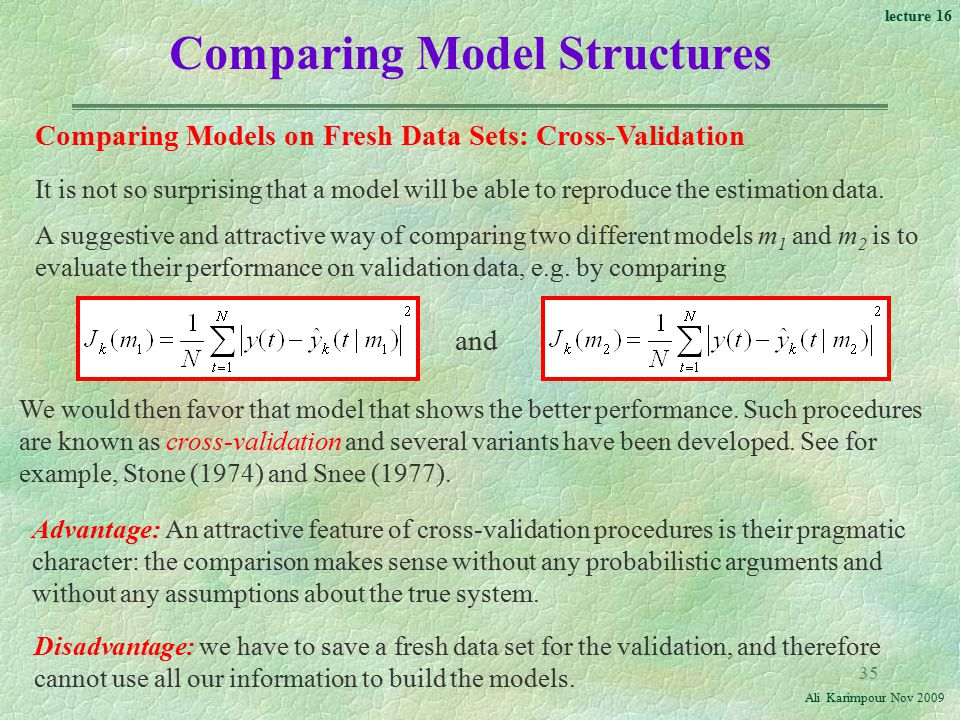 Comparing Model Structures
